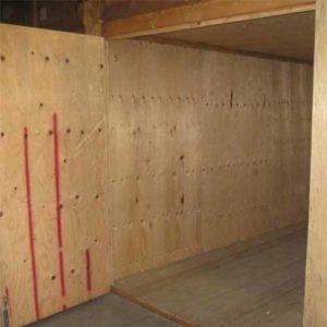 Singolo box dedicato ai clienti, nell'ampio magazzino di Fratelli Traverso Traslochi, a Genova Rivarolo,