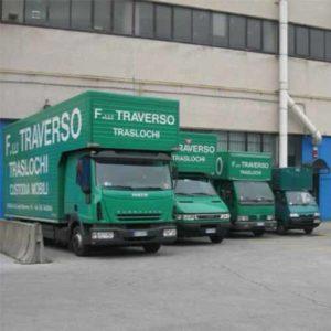 Ampia varietà di mezzi di Fratelli Traverso Traslochi, per tutti i tipi di trasloco: nazionali e internazionali.